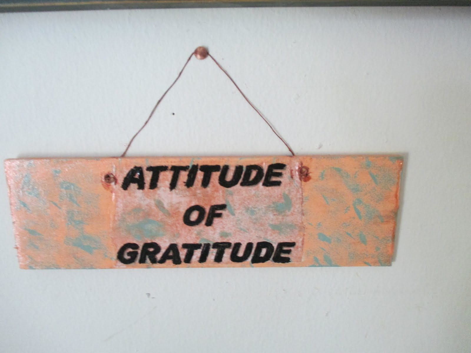 Let's have an attitude of gratitude!