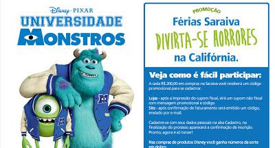 """Promoção """"Férias Saraiva com Universidade Monstros"""""""""""
