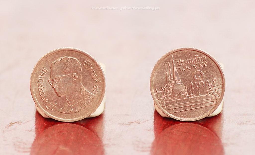 Koleksi duit syiling Thailand 1 Baht (1986-2006)