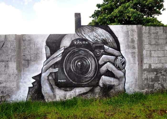 Уличный художник. Nuxuno Xan (street art)