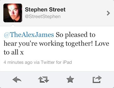 stephenstreet, stephen street twitter, blur studio, blur recording, new blur, blur alex james twitter, blur news