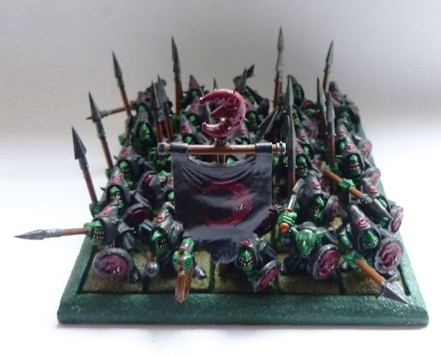 Night Goblin spear unit from Warhammer Fantasy Battle
