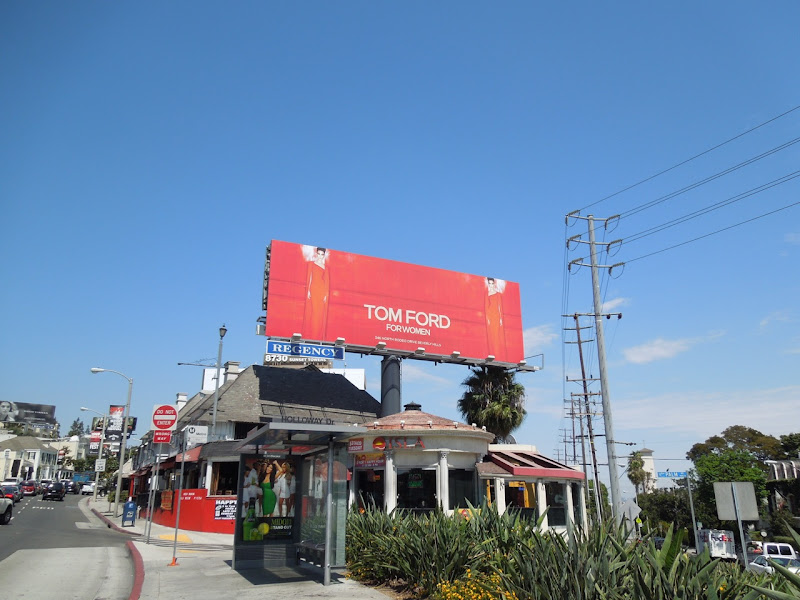 red Tom Ford Women billboard