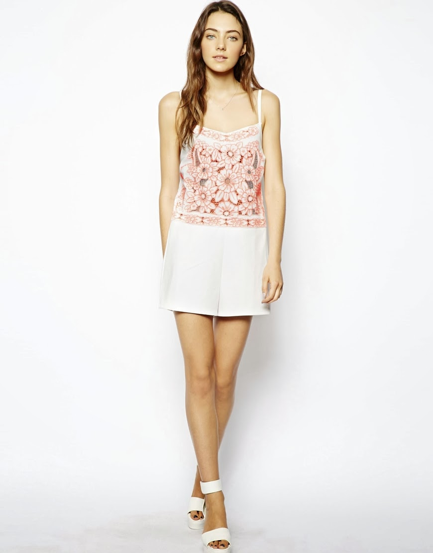 asos playsuit white
