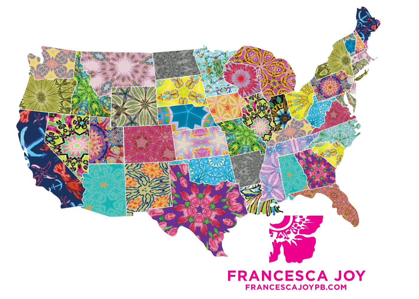 Interesting Maps Map Inspiration Cute USA Map By Rachel Apple