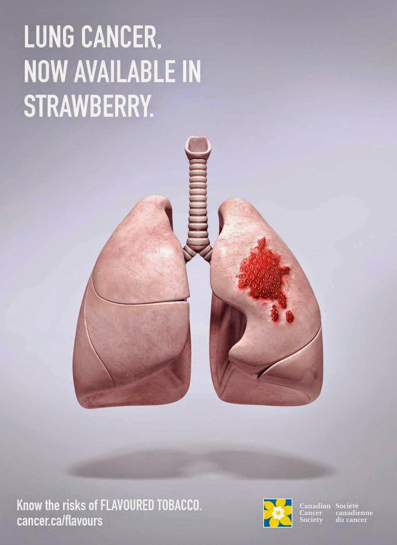 Publicidad que incomoda, cáncer de pulmón, Canadian Cancer Society