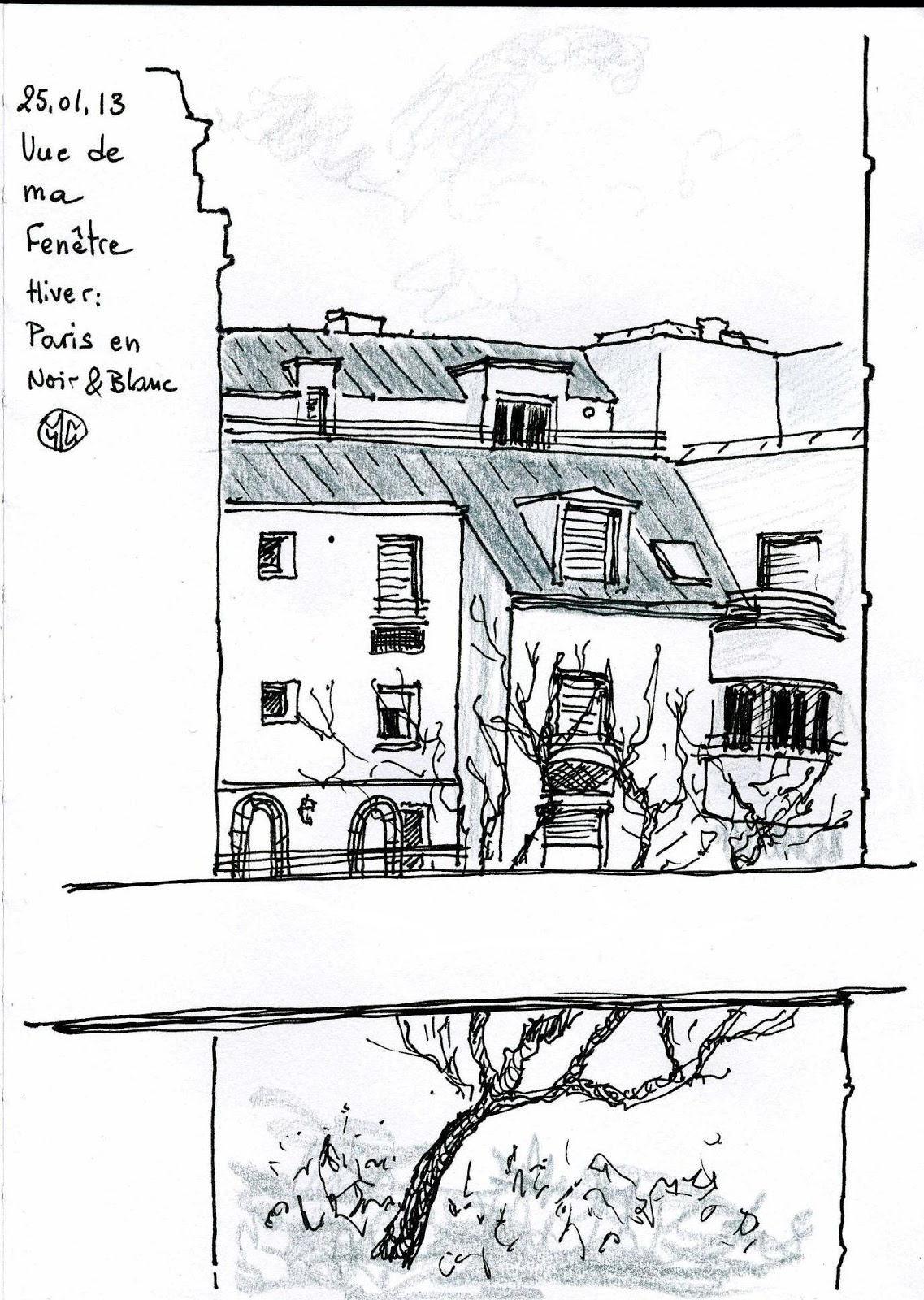 Urban sketchers paris vue de ma fen tre for Vue de ma fenetre
