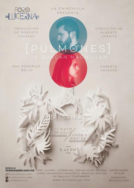 """Corta temporada de """"Pulmones"""" de Duncan Mcmillan en el Foro Lucerna"""