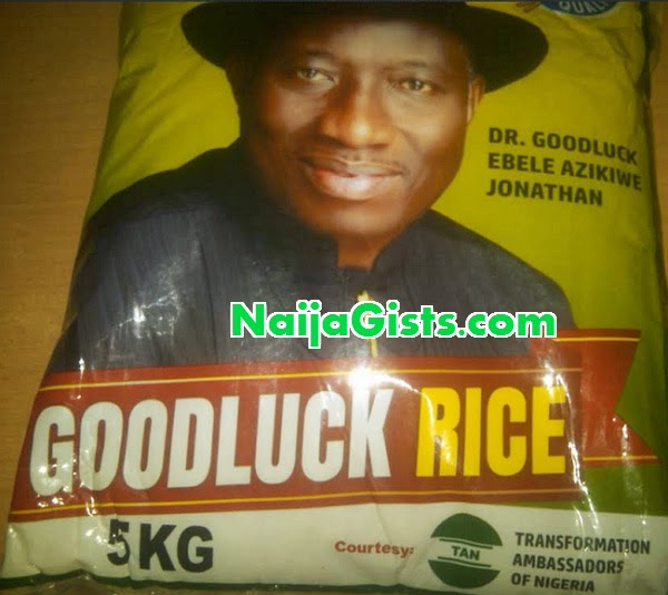 jonathan bags rice poverty alleviation