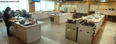 Instalaciones donde se desarrolló la clase de cocina de bulgogi