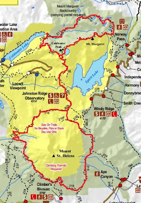 hike mount helens map