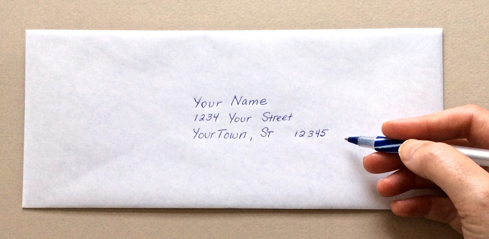 Where To Put Stamp On Envelope My Web Value