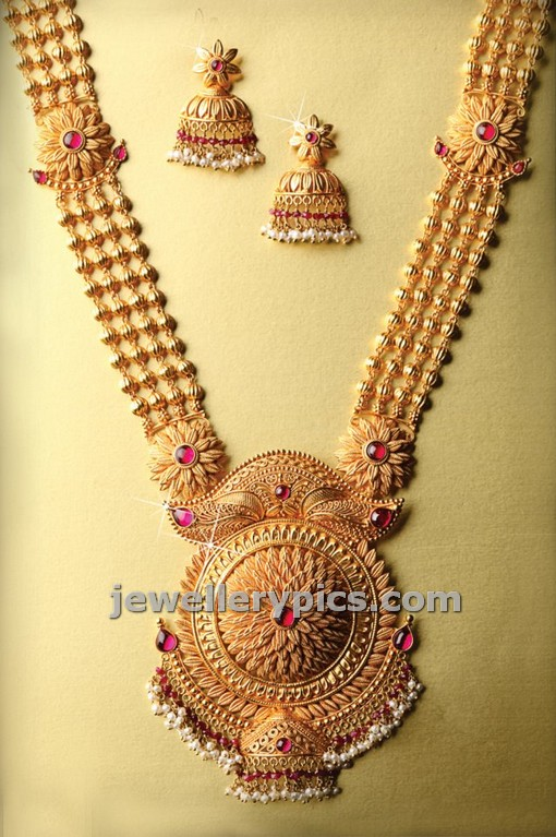 cute gold haram design latest design by png jewellers