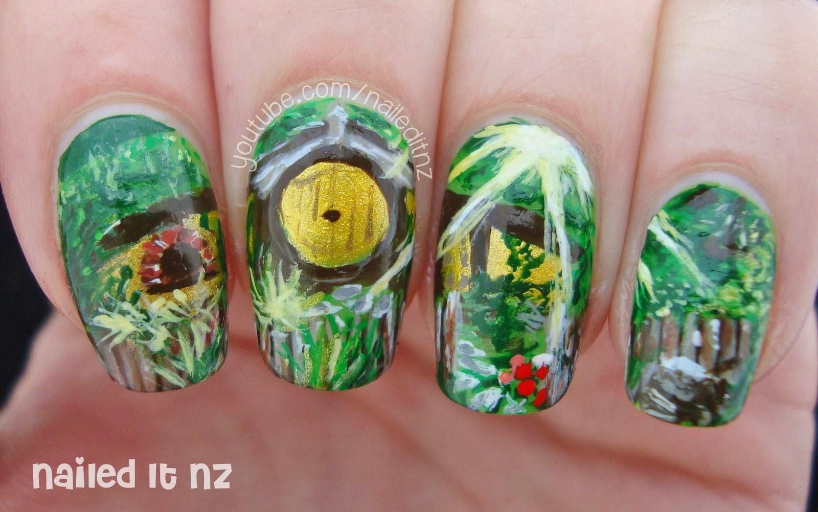 The Hobbit Nail Art | The Shire