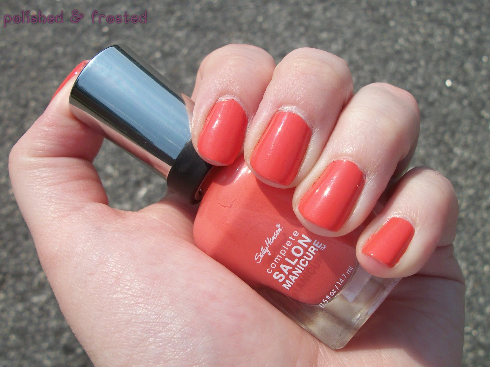 polished amp frosted sally hansen complete salon manicure