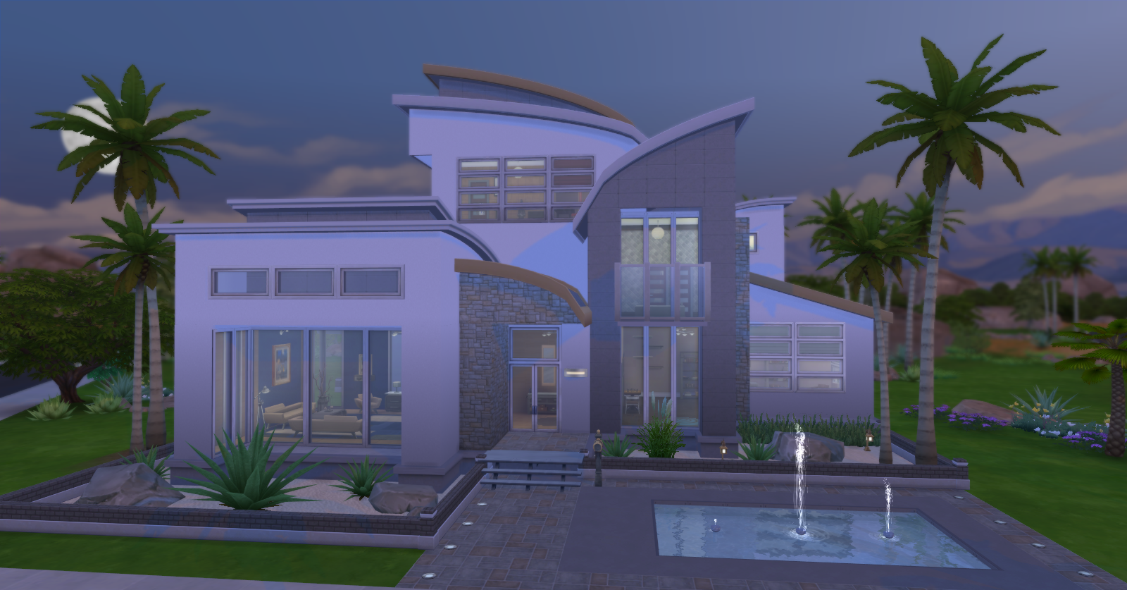 Simply ruthless modernity for Big modern house sims 4