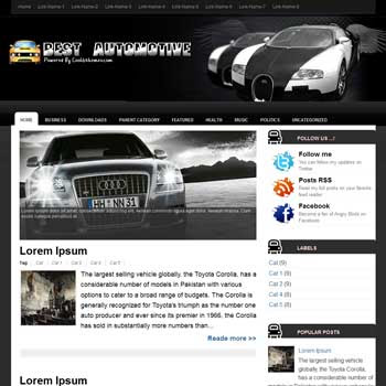 Best Automotive blogger template. blogger template 3 column footer. automotive template blogspot free