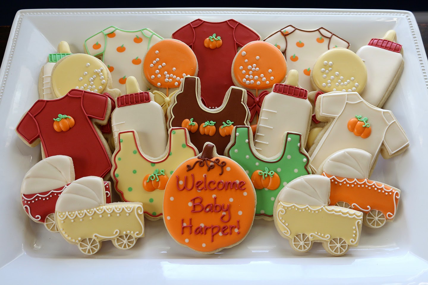 fall-themed baby cookies