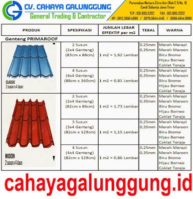 Genteng Metal Prima roof