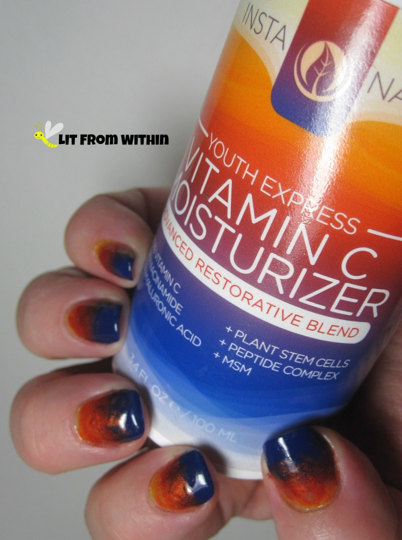 InstaNatural Youth Express Vitamin C Moisturizer - inspired nailart