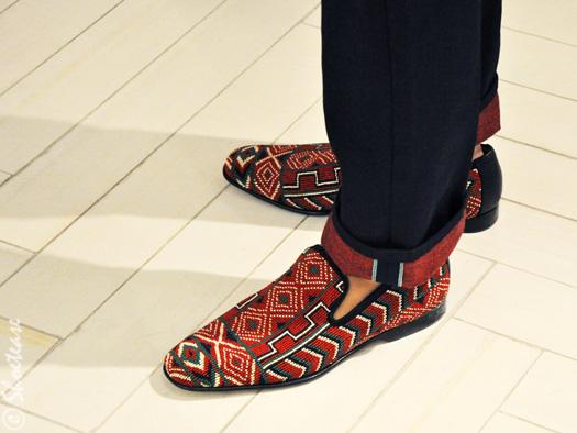 tommy ton shoe slippers tribal print shoetease - Slipper Ayakkab�lar