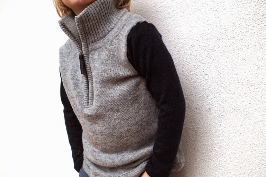recycled half zip sweater - huisje boompje boefjes