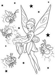 Tinkerbell coloring pages fairies pixie hollow for Pixie hollow coloring pages