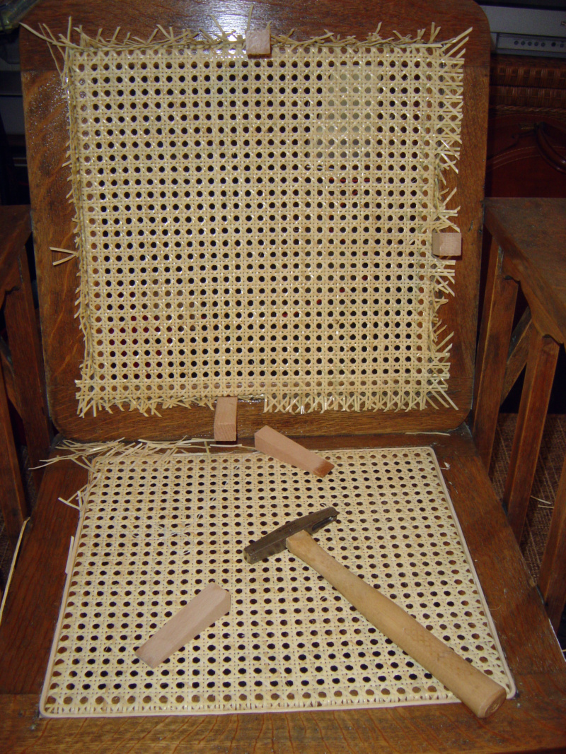 I Decided To Cane The Chair Seat First, Figuring If I Messed Up The  Application It Would Be Easier To Cover Up (with My Big Butt.