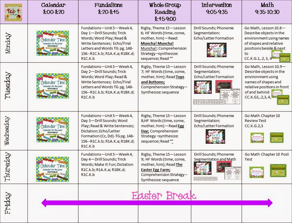 Fab4 Lesson Plans for the Week of April 14, 2014