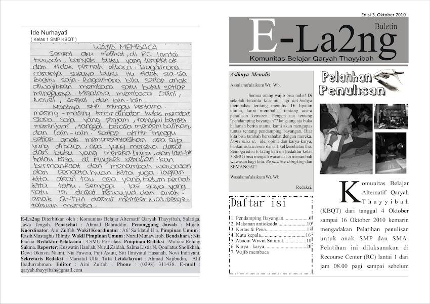 Buletin E-la2ng, Edisi 10 Oktober 2010