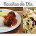 Receitas do dia: Almôndegas de Abobrinha e Salada de batata com manjericão.