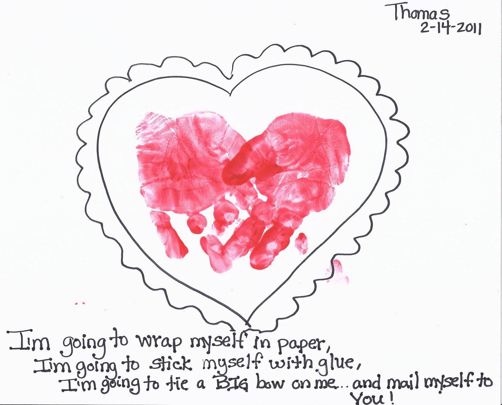valentines hand print craft toddler pre k