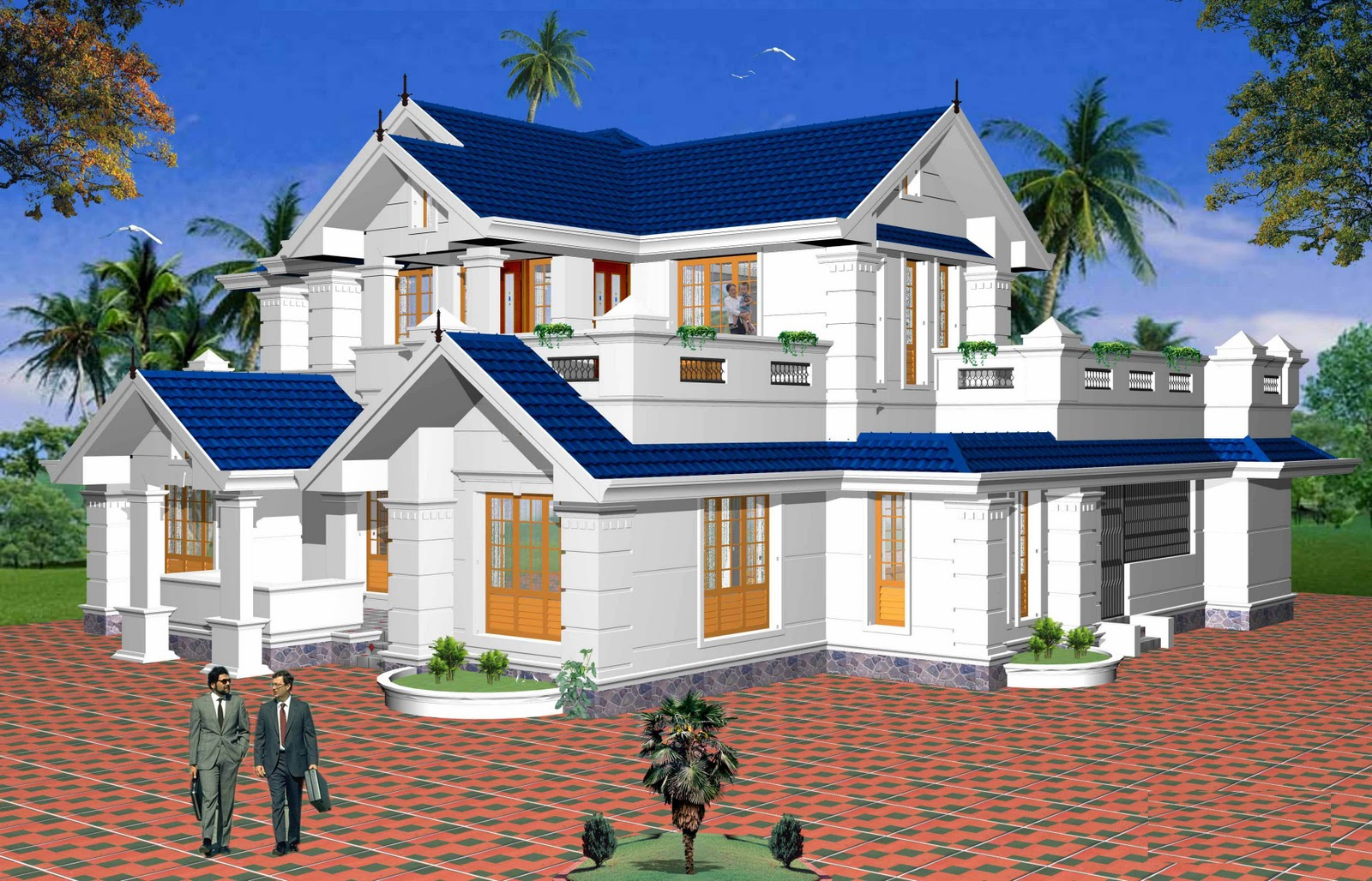 Types of house plan modern home plan Villa designs india