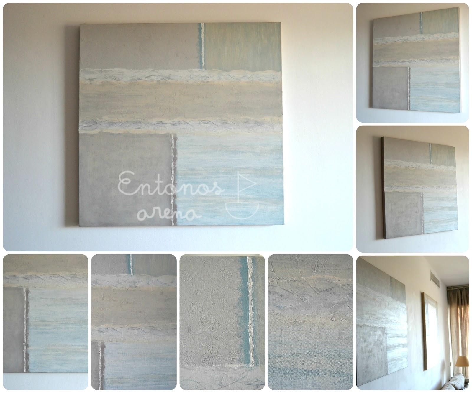 Abstracto para sal n entonos arena for Lienzos para salon modernos