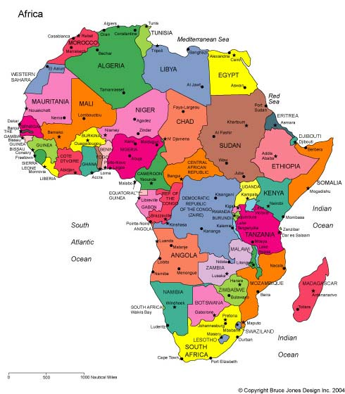 Maps for design editable clip art powerpoint maps africa regional africa regional world map from our world of maps collection gumiabroncs Images