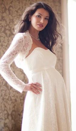 Chọn váy cưới cho cô dâu mang bầu duyên dáng 1