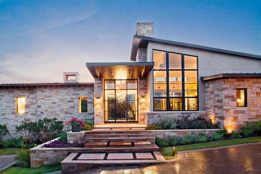 As said above  it is not expensive at all  although you may opt for a real  stone as a preferred material Modern Trends In Home Exterior Designs. Modern Home Exterior Materials. Home Design Ideas