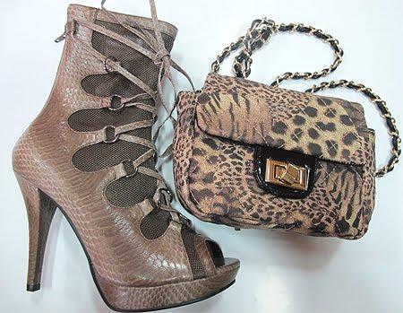 комплект летни боти и леопардова чанта