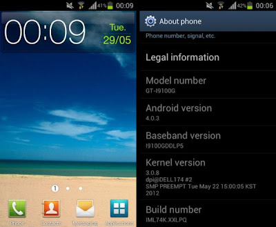ICS firmware released for GT-I9100G