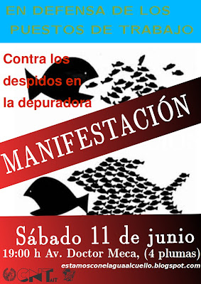cnt-cartel-manifestación-mazarrón-aqualia-facsa-depuradora