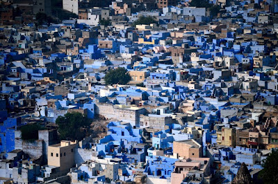 photograph of jodhpur the blue city in India