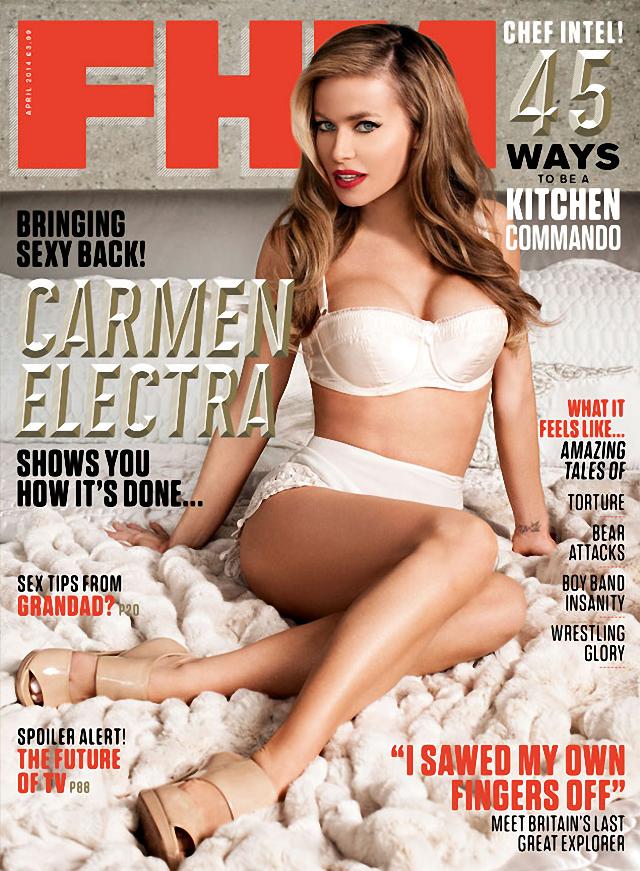 Carmen Electra en FHM Magazine