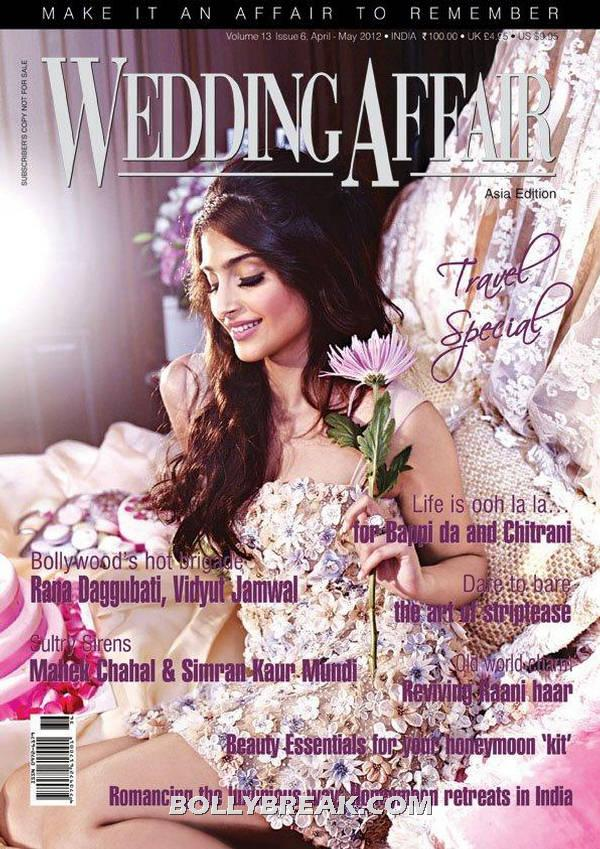 Sonam Kapoor Wedding Affair Magazine Cover Page - Sonam Kapoor on Wedding Affair Magazine Cover Page