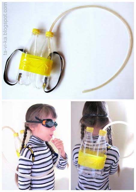 самодельный игрушечный акваланг aqualung