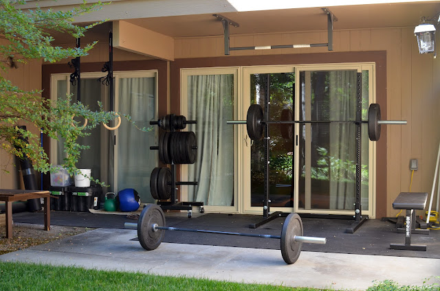 Jes crossfit my home gym