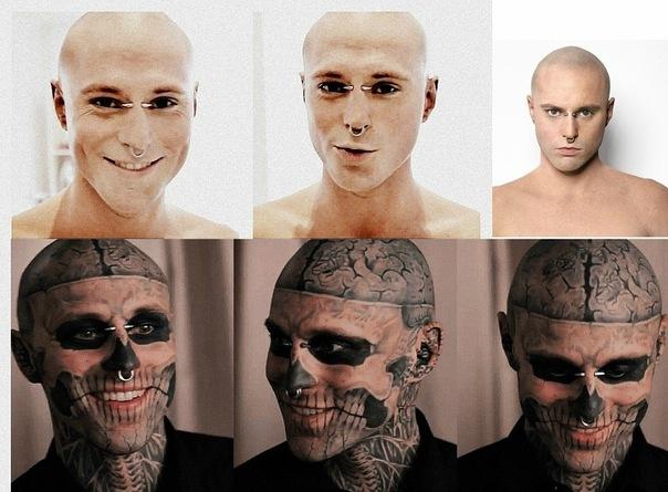 Rick genest makeup gif
