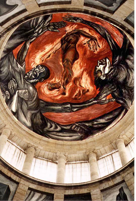 Adolfozg el hombre en llamas for El hombre de fuego mural de jose clemente orozco