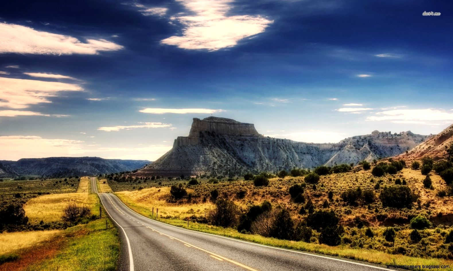Wonderful Mountain Road 3D Hd Wallpaper Download