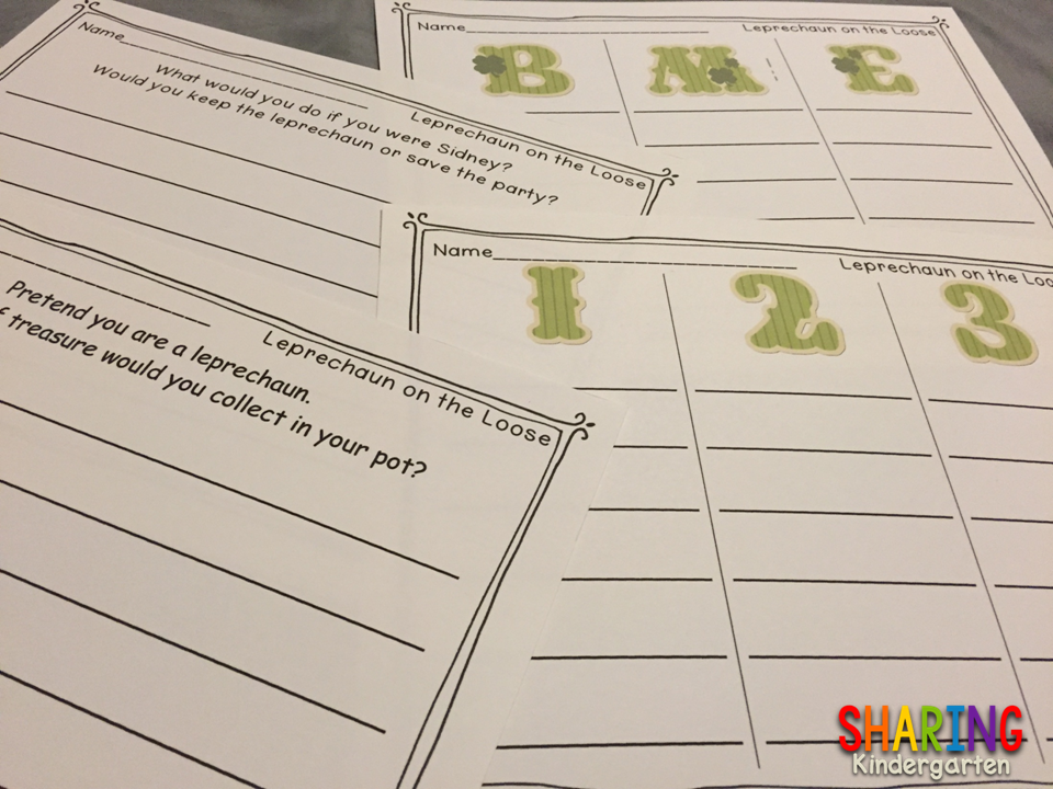 https://www.teacherspayteachers.com/Product/Leprechaun-on-the-Loose-Game-and-Writing-Prompts-601713
