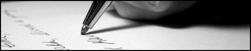 Escritor escrevendo